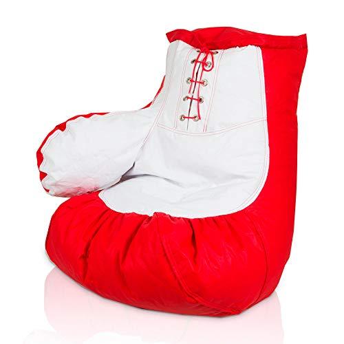 Puff Luva de Boxe Vermelho e Branco
