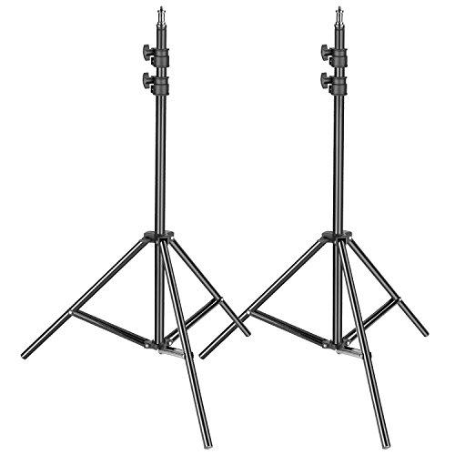 Neewer Lot de 2 Support de Lumière Photographique Métallique Hauteur Réglable 92 à 200cm Robuste et Durable pour Photo Studio, Softbox, Parapluie,etc.
