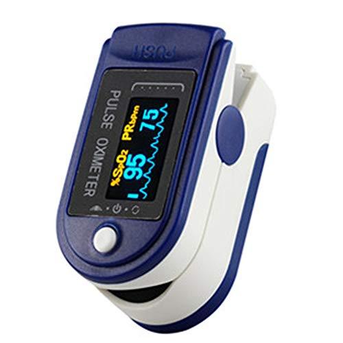 Oxímetro de Dedo, Monitor de Saturación de Oxígeno en Sangre con Frecuencia de Pulso, Índice de Perfusión, Medición Infrarroja