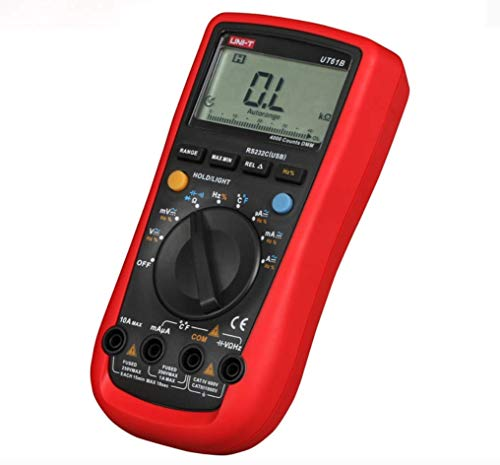 ZTBXQ Home Supplies Digital Multimeters 3999 Count Auto Range USB PC Software Auto Power Off Best Accuracy 1% 0.5s Fast Test (UT61B)