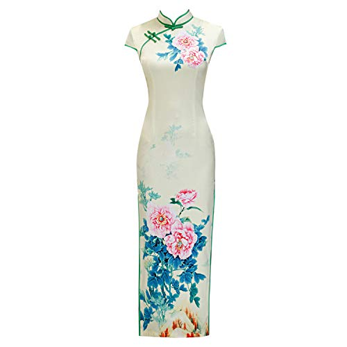 Dames Cheongsam, Chinese Jurk Outfits Potlood Jurk Lange Jurk Engagement Party Bruids Douche Festival/Vakantie