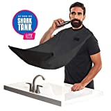 "BEARD KING - The Official Beard Bib - Hair Clippings Catcher & Grooming Cape Apron - ""As Seen on Shark Tank"" - Black (Lite Version)"