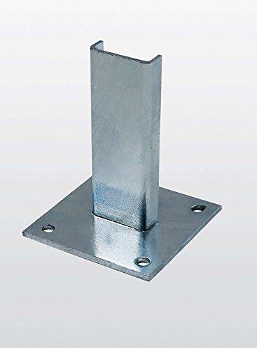 Fußplatte Stahl verzinkt - 63253