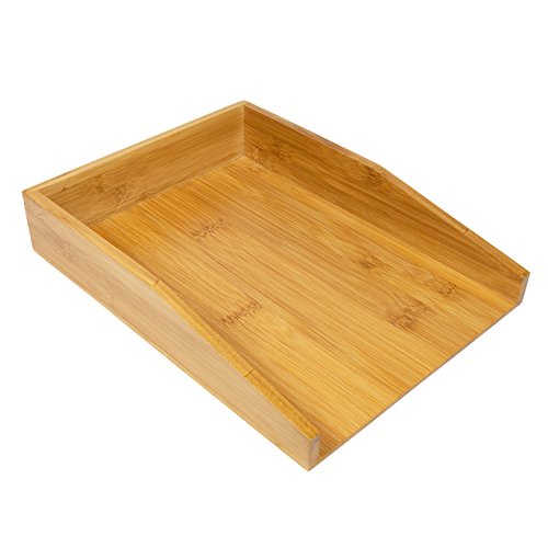 Woodluv 100% Bambus A4 Letter Document Files Tray