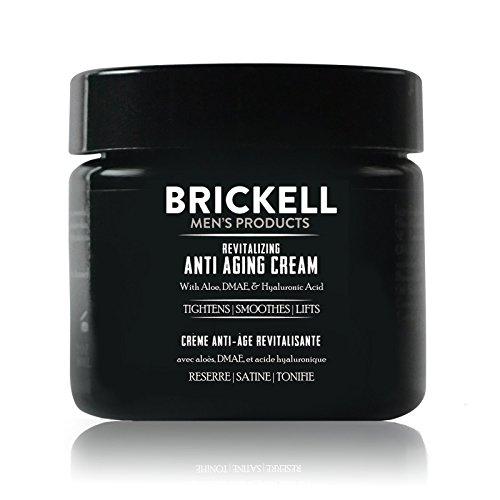 Brickell Men\'s Gesichtscreme Männer - Revitalisierende Anti Aging Creme für Männer - Natürliche & organische Anti Falten Creme - Mit Aloe, DMAE & Hyaluronsäure - 59 ml - Parfümierte Nachtcreme