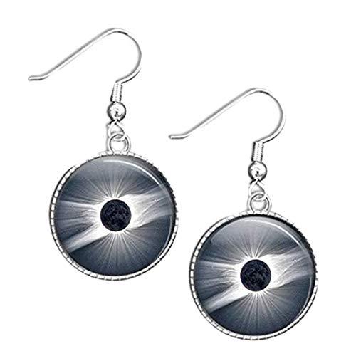 Pendientes solares de Eclipse, joyería total de Eclipse, regalo total de Eclipse
