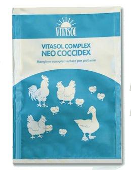VITASOL- Neo Coccidex. Coccidiodtatico Naturale per Polli. Confezione da 100 gr