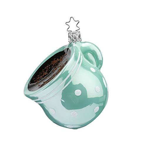 Inge-glas - Christbaumschmuck, Baumschmuck -Starker Kaffee - Maße: 8,5 cm - mundgeblasen