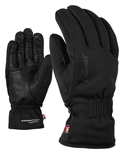 Ziener Damen KARINE AS PR lady glove Ski-Handschuhe / Wintersport | wasserdicht, atmungsaktiv, sehr warm, schwarz (black), 8