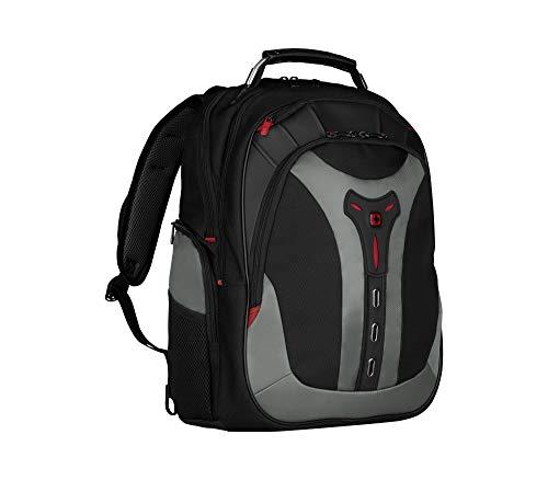 WENGER Pegasus Laptop Rucksack, Notebook bis 17 Zoll, 25 l, Damen Herren, Uni Schule Business Reisen, Schwarz/Blau