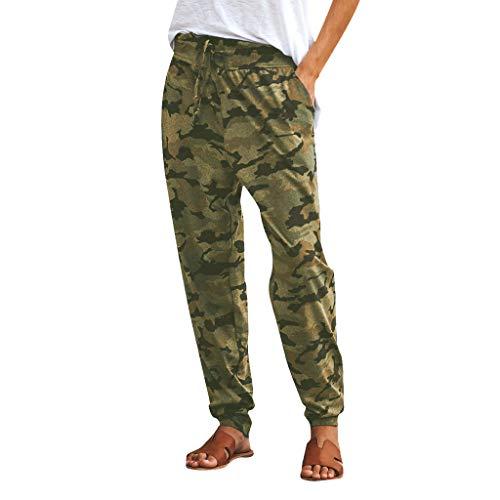 Auiyut Tarnhose Damen Jogginghose Camouflage High Waist Sport Hosenanzug Trainingshose Mädchen Military Hip Hop Jogger Trainingshose Winterhose Baggy Hose Cargo Pants Cargohose