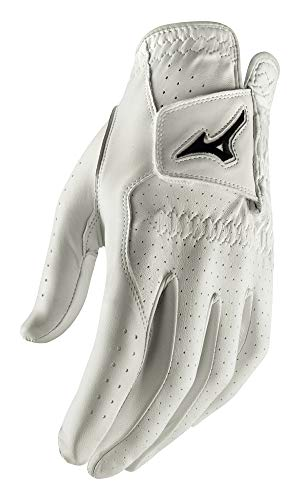 Mizuno 2020 Tour Golf Glove White/Black, Small Cadet, Left Hand