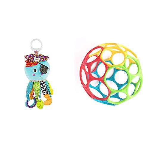 Lamaze Baby Spielzeug Captain Calamari, die Piratenkrake Clip & Go - hochwertiges Kleinkindspielzeug - Greifling Anhänger zur Stärkung der Eltern-Kind-Bindung & Oball Classic