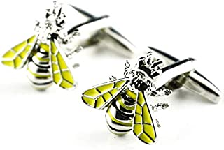 Fashion Yellow bee shape Cufflinks men shirt Cufflinks