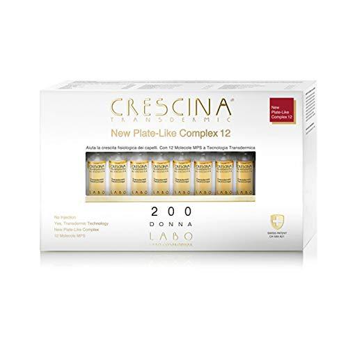 LABO CRESCINA TRANSDERMIC NEW PLATE-LIKE COMPLEX 12 Ri-Crescita Capelli 200 DONNA 40 Fiale