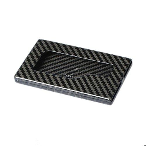 Real Genuine Carbon Fiber Business Card Holder, Professional Business Card Holder for Men Business Card Case Women Business Card Organizer Wallet Holder Case - Black - Glossy