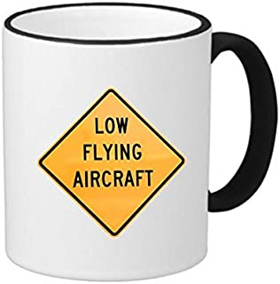 caution low flying aircraft sign