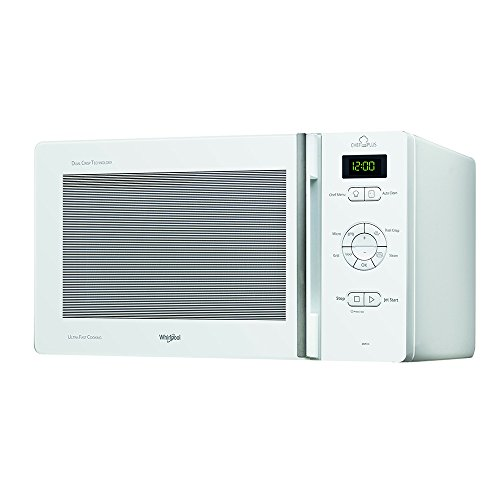 Whirlpool ChefPlus Microondas, Acero Inoxidable, Blanco
