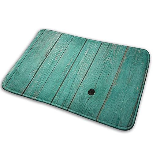 Best& Alfombra de baño, 15.7 x 23.6 pulgadas, pintura de madera vieja para pelar verde, antideslizante, alfombrilla de baño, accesorios para cocina, sala de estar, sofá, cojín para pie