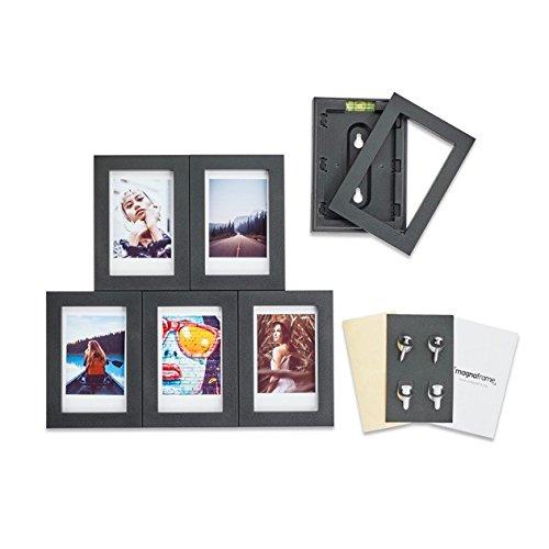 MAGNAFRAME Marco magnético para fotos Fuji Instax Mini, 6 unidades, color negro