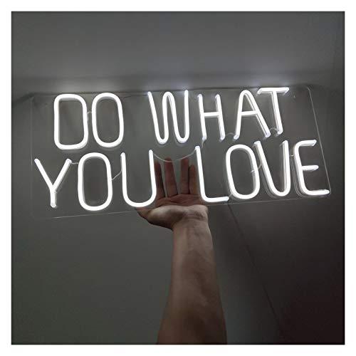WMLWML LED Neon Sign Wall Deco Flex Lights Transparente Acrílico Carta Tablero Fondo Fondo Decoración Boda Iluminación Signo para habitación (Color : AU Standard)