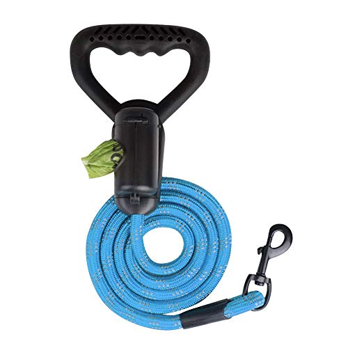Hotiary 6Ft Dog Leashes - Reflective Leash for Large Medium Dogs Running Training with Heavy Duty Ergonomic Soft Rubber Handle and Highly Reflect Thread Light But Strong Design