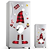 D-FantiX Christmas Gnomes Magnet Set, 21 Pcs Refrigerator Fridge Magnets Strong Swedish Tomte Gnome Holiday Scandinavian Magnetic Christmas Decorations for Metal Door, Cabinets