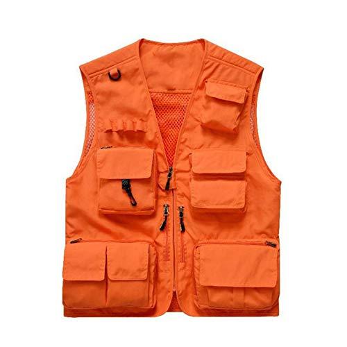 Chalecos de pesca para hombre,Viajes alAire Libre Chalecos Transpirables,Chaleco Transpirable Casual on 15 bolsillos y espalda desmontable