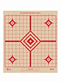 ST-4 Rifle Sighting Target, 100-Yard Precision Rifle Target, Shooting Target, Tag Board (Red, 50)