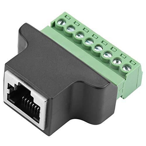 Robusto connettore RJ45 Ethernet da 220 V femmina a vite 8P8C Connettore adattatore DVR digitale a 8 pin Stampaggio plastica per interfaccia di rete