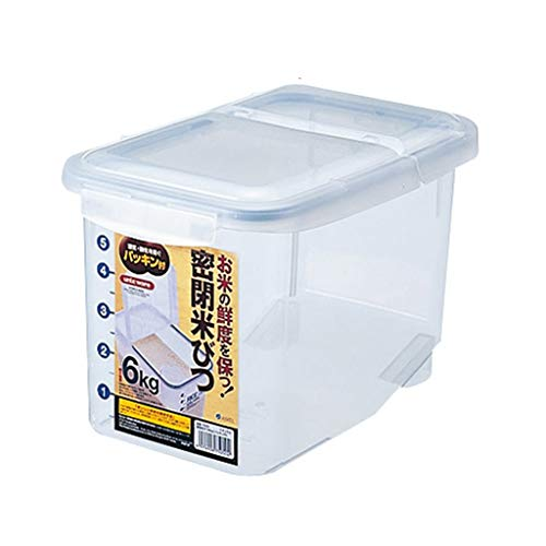 Seau de Riz Boîte de Stockage de Riz scellée étanche à l'humidité Boîte de Riz de contrôle des parasites domestiques Cylindre de Riz Boîtes Alimentaires (Color : Blanc, Size : 19.8 * 30.8 * 20.1cm)
