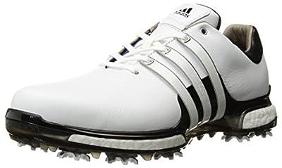 adidas Men's TOUR 360 2.0 Golf Shoe, White/Black, 8.5 M US