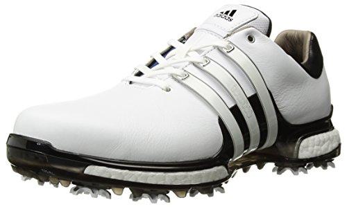 adidas Men's TOUR360 Boost 2.0 Golf Shoe, White/Black, 7.5 UK