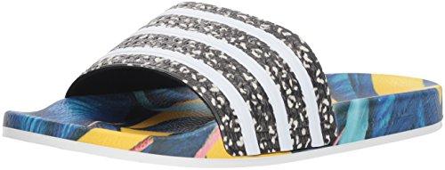 adidas Unisex-Erwachsene Originals ADILETTE Bade Sandalen - Weiß (WHITE/CBLACK/WHITE),EU 40.5