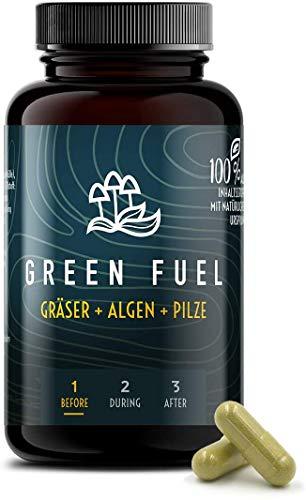 ATHLETIC3 Green Fuel – Nährstoffreiches Elexir aus Gräsern, Algen & Pilzen [60 Kapseln] – u.a. mit Reishi, Chlorella, Weizengras, Gerstengras