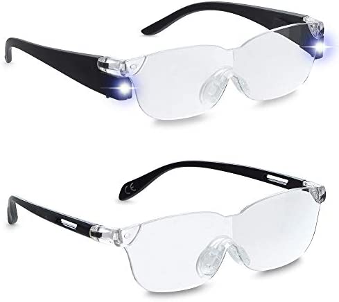 ZOOM VISION PLUS 160 Lighted Magnifying Glasses with LED lights for Men and Women Great Eyeglasses product image