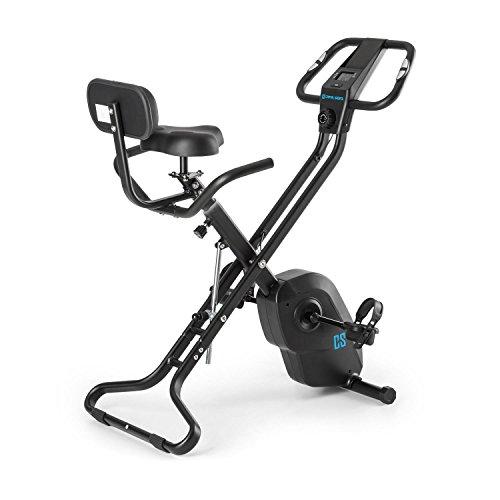 Capital Sports Azura X1 X-Bike - Ergometer, Pulsmesser, 8-stufiger Widerstand, 7 Stufen höhenverstellbar, Rückenlehne, max. 120 kg, schwarz