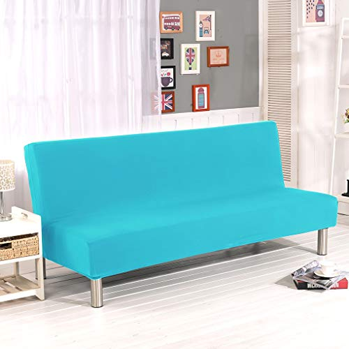 Z&X Fundas para sofá cama, fundas elásticas, sin brazos, color sólido, poliéster, elastano, elástico, clic clack, protector de muebles Small 8