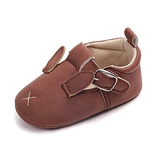 Babyschoenen, Velcro Suède Peuterschoenen Premium Zacht Leren Babyschoenen 3-12 Maanden Ademend Lichtgewicht Babyschoenen Wandelschoenen Konijntjespatroon
