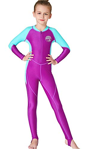 Youth Girls Boys One Piece Water Sports Sun Protection Rash...