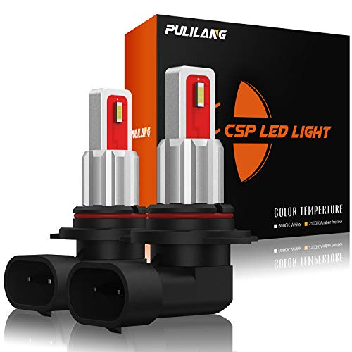 Pulilang Bombillas LED Antiniebla H10 9145 PY20D CSP Chips 6000K Xenón Blanco LED de Conducción Diurna Lámparas Antiniebla DRL Para Reemplazo Halógeno, 12-24V Sin Polaridad 40W 5000LM, 2 Lámparas