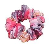 Steelwingsf Bun - Anillo para el pelo, diseño de flores, color rojo