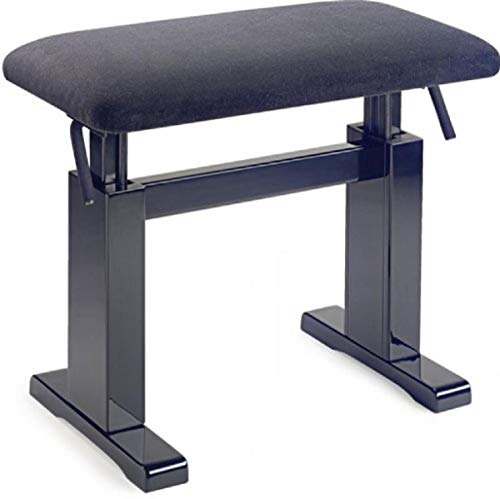 Stagg PBH 780 BKP VBK Hydraulic Piano Bench,Black Velvet Top/Black Highgloss