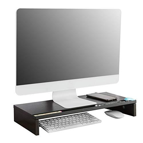 SoBuy BBF05-N Monitorstandaard | Computerstandaard | Laptop standaard | Met pennen houder | Zwart
