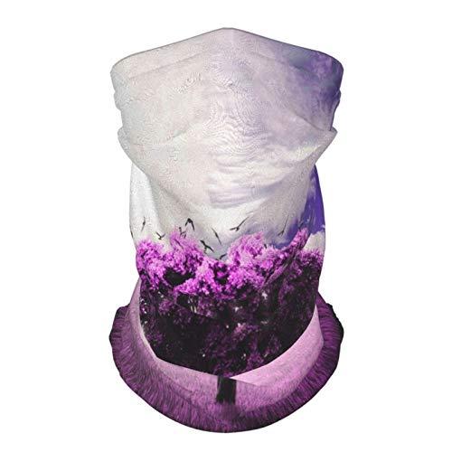 Marvellous Lonely Tree Purple Lavender Face Mask Banada Multifunctional Seamless UV Protection Headwear for Men&Women
