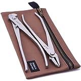 Robin's Garden Kit de Herramientas para Bonsai de Acero Inoxidable - Alicates Corta Alambre 205 mm, Alicates de Jin 210 mm y Estuche de Lona Encerada.