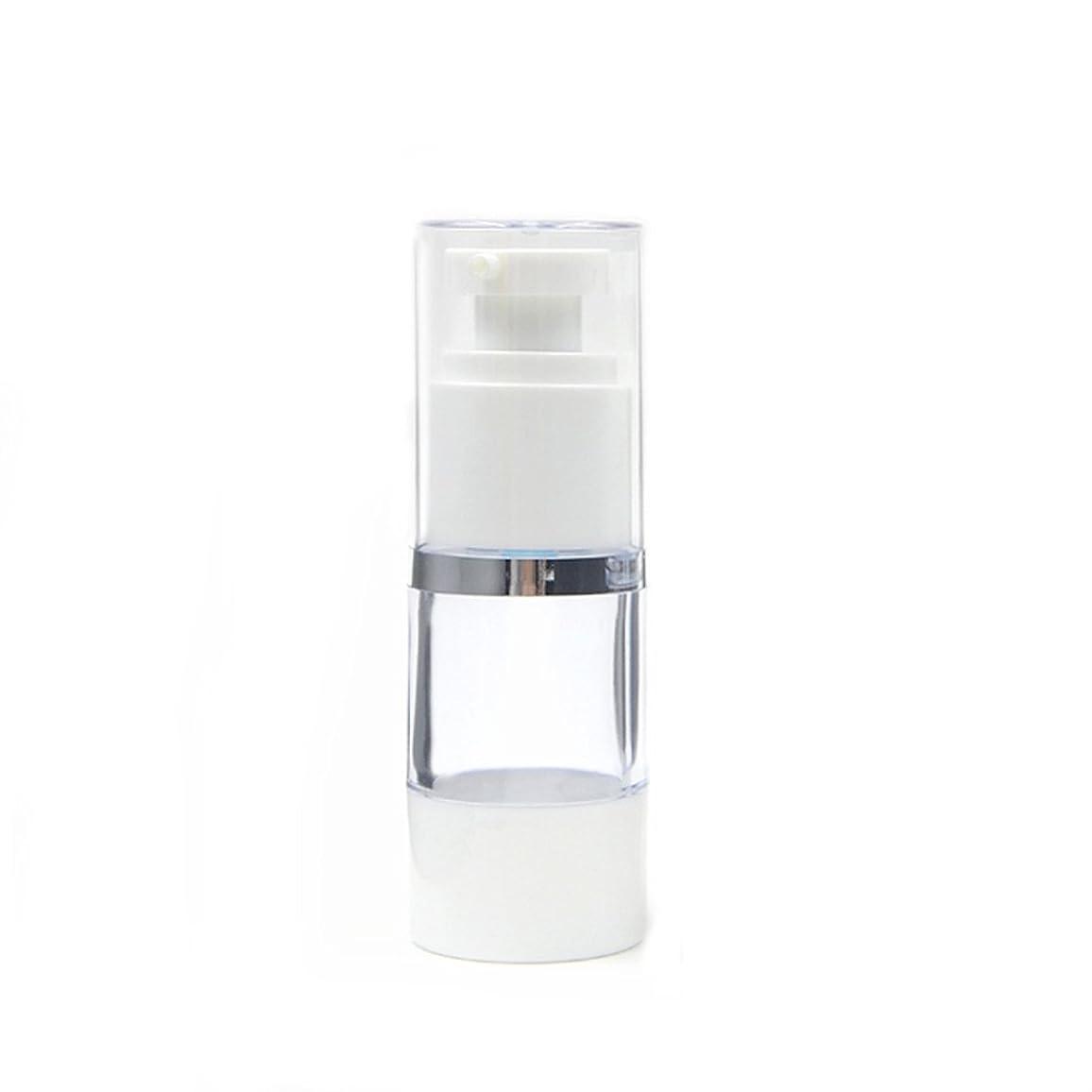 計算極小うがいAngelakerry エアレス 容器 プラスチック製 15ml シルバーエッジ  手作りコスメ 手作り化粧品 10本セット [並行輸入品]