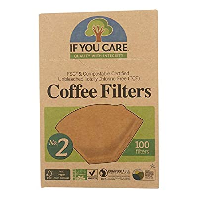 If You Care FSC Unbleached No 2 Coffee Filters, 100 Count