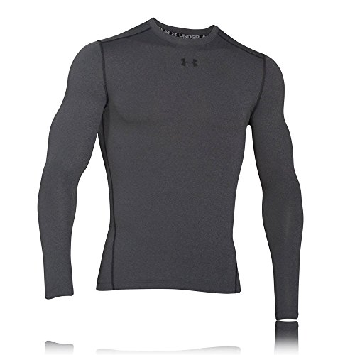 Under Armour UA CG ARMOUR CREW Chemise à manches longues Homme Carbon Heather FR : M (Taille Fabricant : MD)
