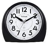 GLLP 5.5'Silencio Reloj de Alarma analógico sin tictac, Wake Gentle, Sonidos Sonidos, Volumen Aumento, SNOOZO OPERADO Y Funciones DE LUZ, Set Easy, Negro (lo Mejor para el Anciano)